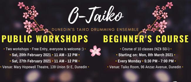 Taiko Public Workshop (Japanese Drumming)
