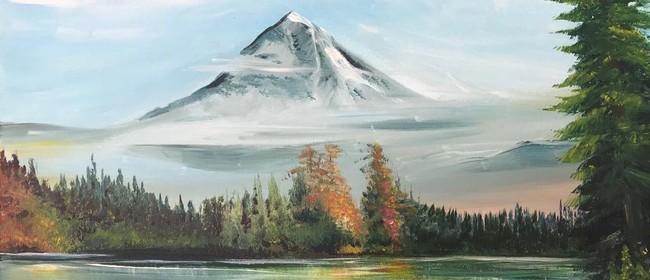 Paint & Chill Sat Night - Mountain & Lake Bob Ross inspired!