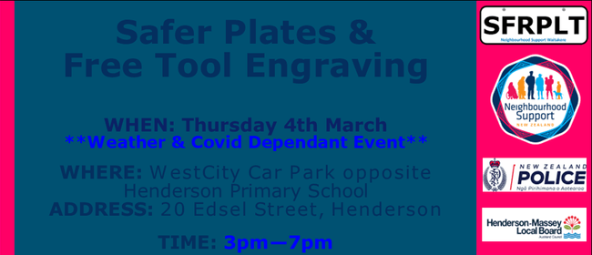 Safer Plates & Free Tool Engraving