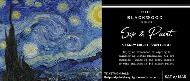 Sip & Paint: Starry Night Van Gogh at Little Blackwood