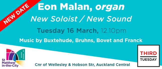 Third Tuesday Concert - Eon Malan, Organ