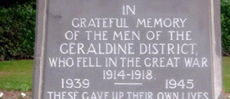Geraldine ANZAC Day Commemorative Service