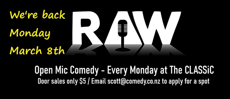 Raw Comedy ... Open Mic