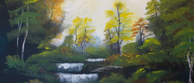 Paint and Wine Night - Bob Ross Autumn Forest: CANCELLED