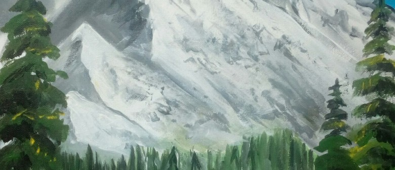 Paint & Wine Night - Bob Ross Snowy Mountains: CANCELLED