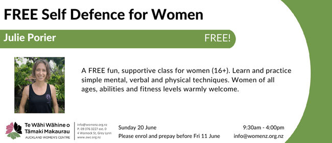 Women's Self Defence Workshop