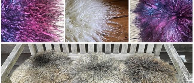 "Felting and Dyeing Workshop - ""Sheepskin"" Sitting Pad"