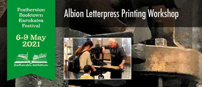 Albion Letterpress Printing Workshop