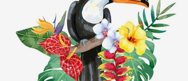 Wine and Paint Party -Tropical Bird Toucan Painting