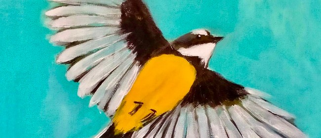 Paint and Wine Night - Pīwakawaka in Flight