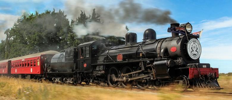 Marlborough Flyer Steam Train - Blenheim to Seddon (return)