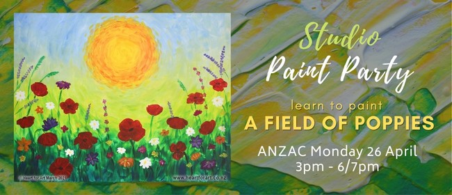 Paint Party - ANZAC Poppy Painting