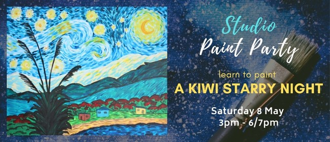 Paint Party - Kiwi Starry Night Painting