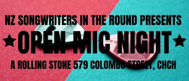 NZ Songwriters in the Round Open Mic Night