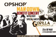 "Opshop ""Man Down"" Benefit Concert With Gorilla Biscuit"