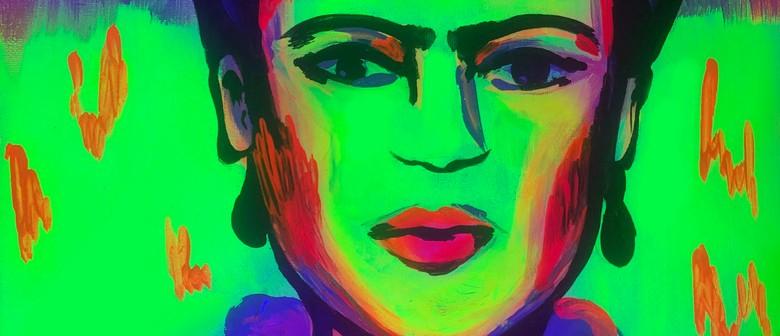 Glow in the Dark Paint Night - Fluro Frida - Paintvine