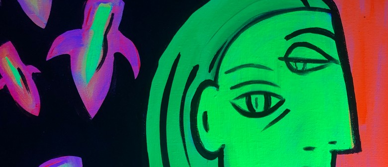 Glow in the Dark Paint Night - Glowing Picasso