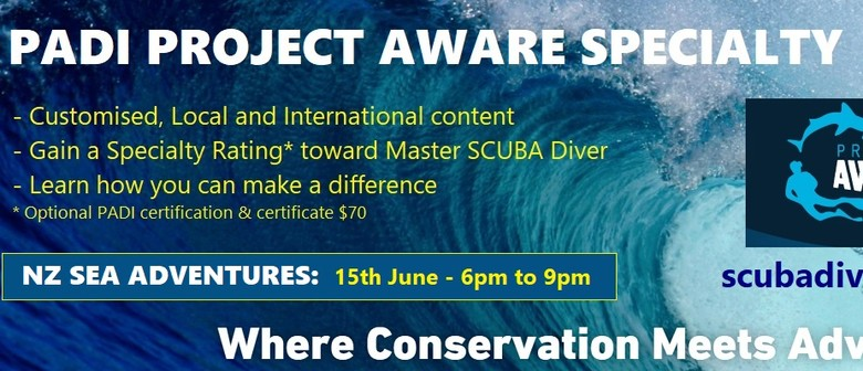 PADI Project AWARE Specialty Evening
