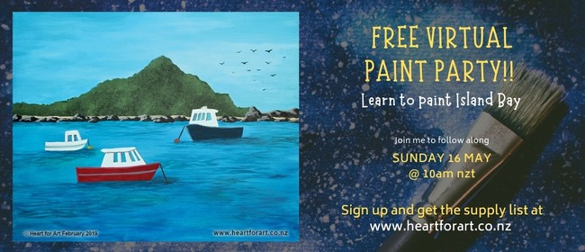Learn to Paint Island Bay - Online Painting Class