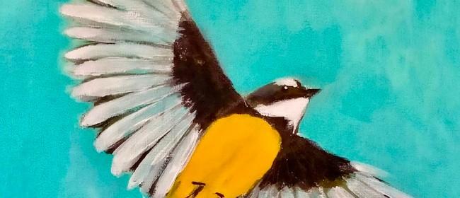 Paint & Wine Night - Pīwakwaka in Flight