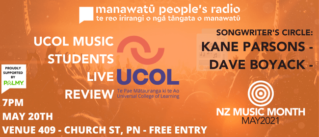 NZMM21 - UCOL Music and The Songwriter's Circle