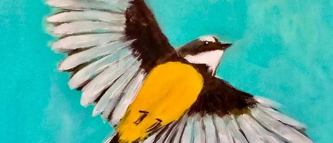 Paint and Wine Night - Piwakawaka in Flight