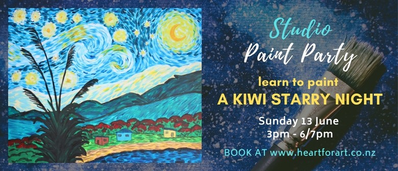 Learn to paint A Kiwi Starry Night - Studio Paint Party