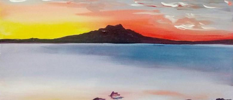Paint & Wine Night - Rangitoto Sunrise: POSTPONED