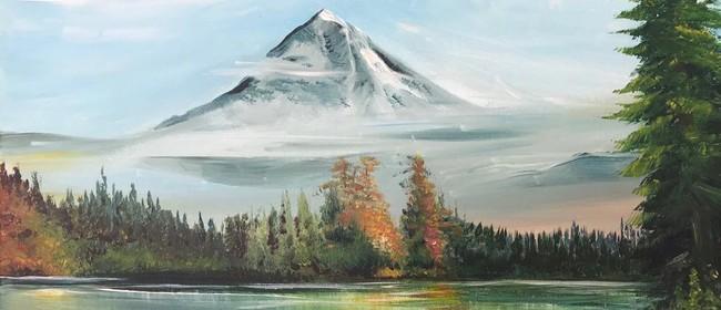 Paint & Chill Friday Night - Bob Ross Mountain & Lake!