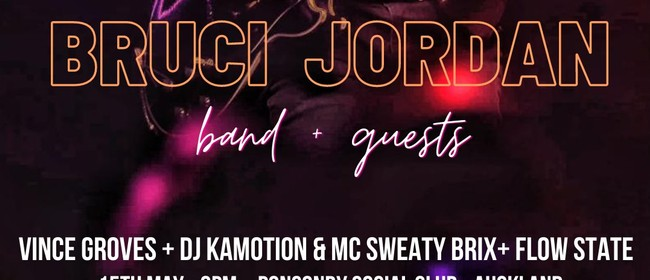 Bruci Jordan Live with full band