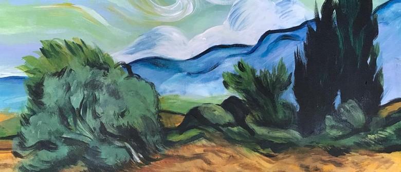 Paint & Chill Saturday Night - Van Gogh Wheatfield!