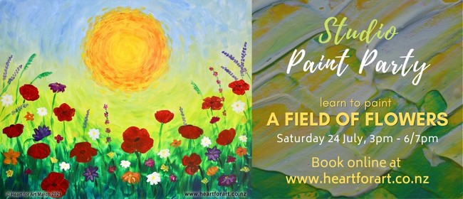 Paint Party - Field of Flowers Painting