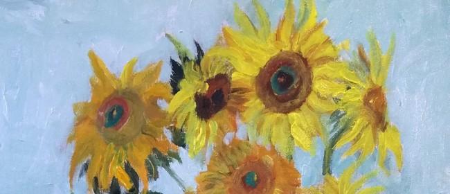 Paint and Wine Night - Van Gogh Sunflowers