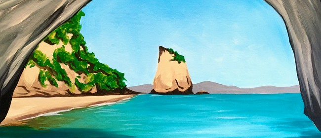 Watercolour & Wine Night - Cathedral Cove