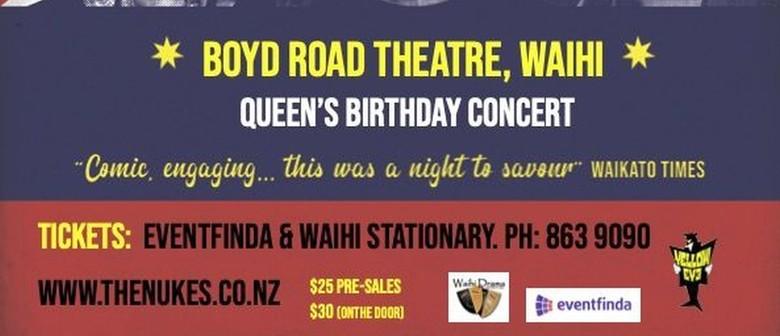 The Nukes Ukulele Trio Waihi Queens Birthday Concert