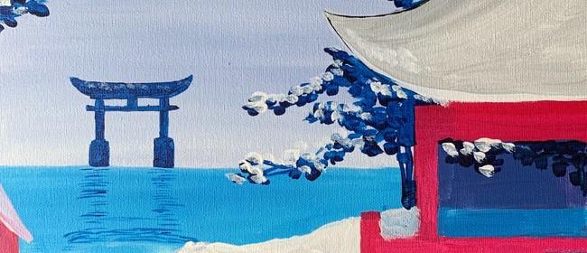 Paint and Wine Night - Snowy Japan