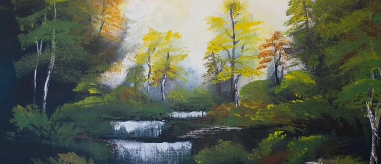 Paint & Wine Night - Bob Ross Autumn Forest