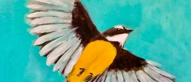 Paint and Wine Night - Pīwakawaka in Flight