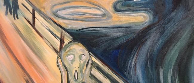 Paint and Wine Night - The Scream
