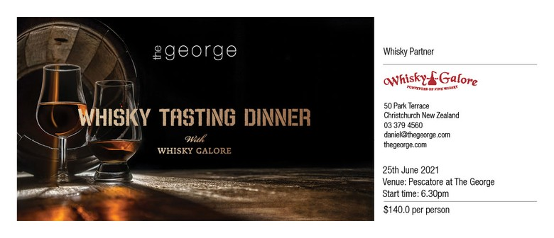 Whisky Tasting Dinner with Whisky Galore: SOLD OUT