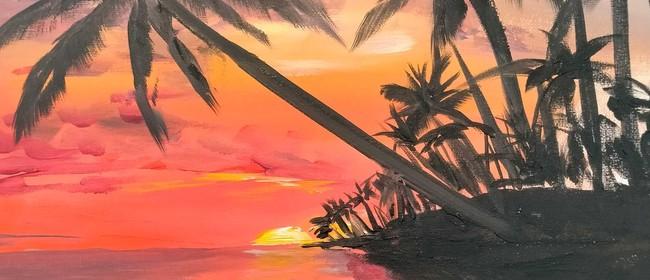 Paint & Wine Night - Tropical Paradise