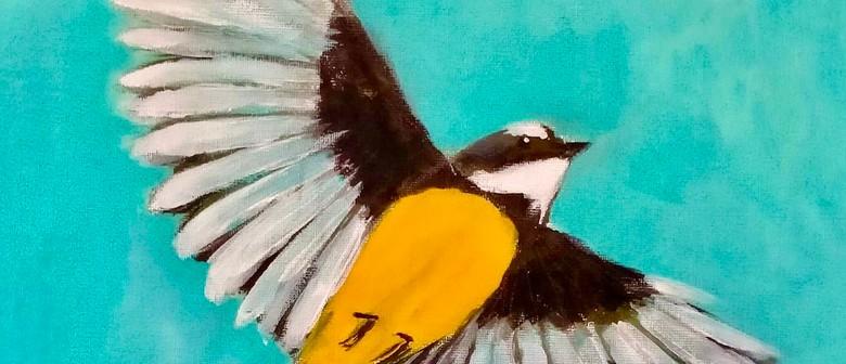 Paint & Wine Night - Pīwakawaka in Flight
