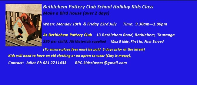 Kids School Holiday Pottery Class