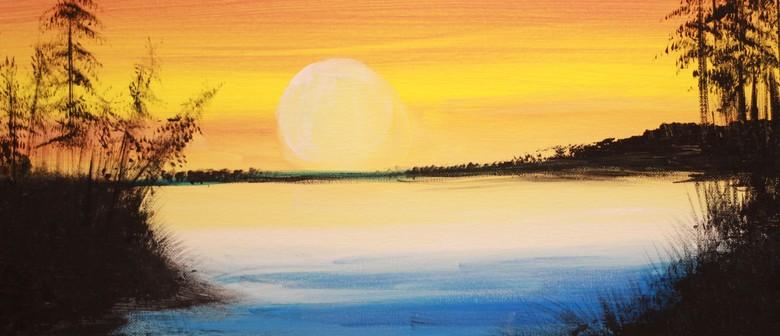 Paint & Chill Saturday Arvo - Golden Sunset