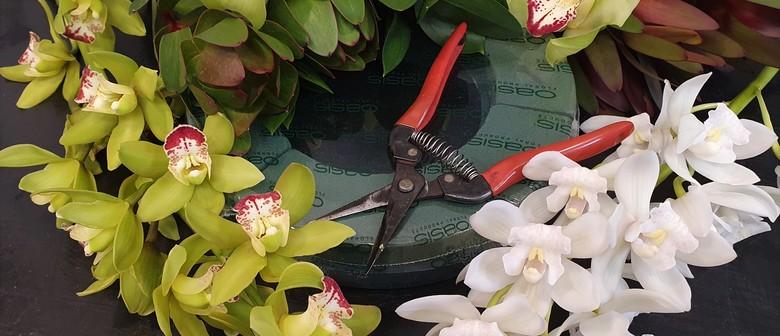 Flower Arranging Workshop & Cymbidium Orchid Greenhouse Tour