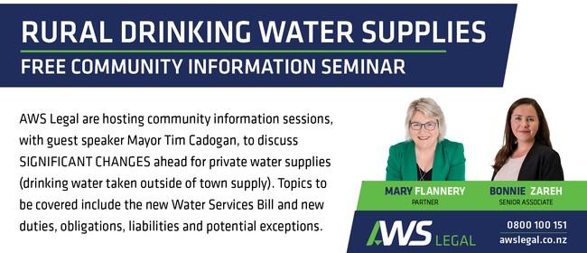 Rural Drinking Water Supplies Seminar - Alexandra