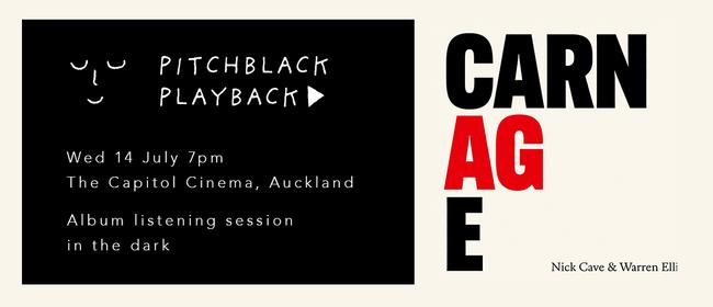 Pitchblack Playback: Nick Cave & Warren Ellis 'Carnage'