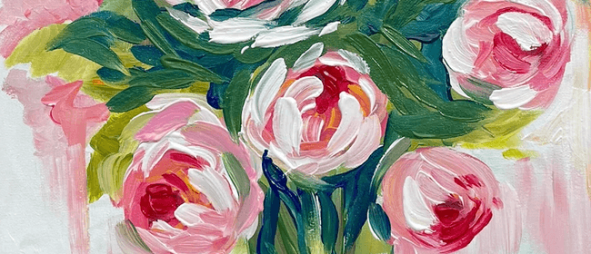 Paint and Wine Night - Peony Bouquet