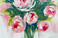 Image for event: Paint and Wine Night - Peony Bouquet
