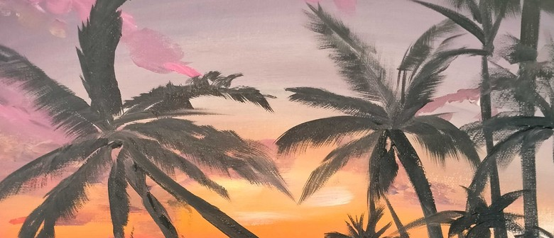 Paint and Wine Night - Tropical Paradise